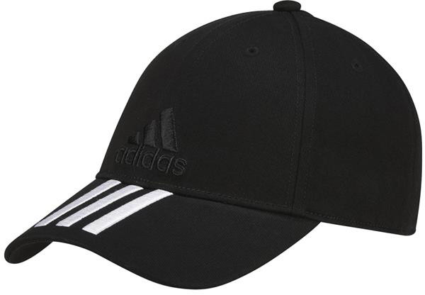 Tennisemüts Adidas 6 Panel 3S Cap Cotton - black/white