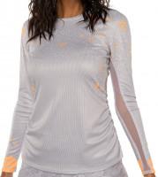 Ženska majica dugih rukava Lucky in Love Eyelet Go Long Sleeve Women - white/orange frost