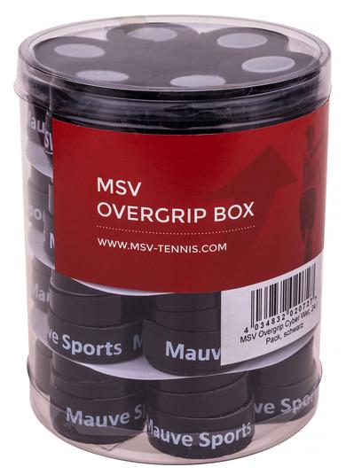 Owijki tenisowe MSV Cyber Wet Overgrip (24 szt.) - black