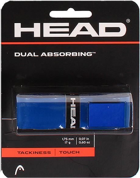 Owijki tenisowe bazowe Head Dual Absorbing blue 1P