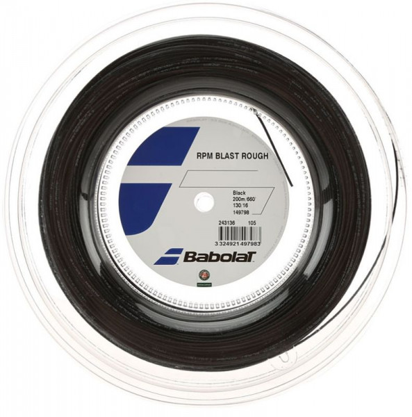Tenisa stīgas Babolat RPM Blast Rough (200 m) - black