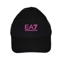 Czapka tenisowa EA7 Man Woven Baseball Hat - black/pink fluo
