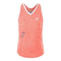 Koszulka dziewczęca Babolat Core Crop Top Girl - fluo strike