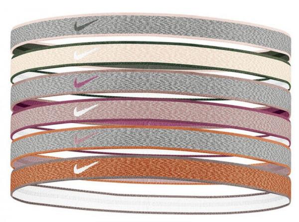 Opaska na głowę Nike Heathered Headbands 6PK - iron grey/particle beige/iron grey