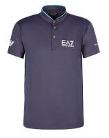 Tenisa polo krekls vīriešiem EA7 Man Jersey Jumper - anthracite