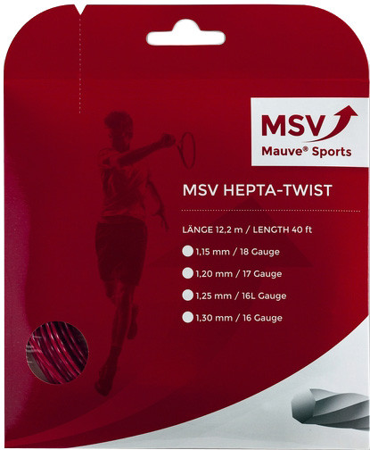 Naciąg tenisowy MSV Hepta Twist (12 m) - red