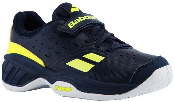 Junior shoes Babolat Pulsion All Court Kid - blue/yellow