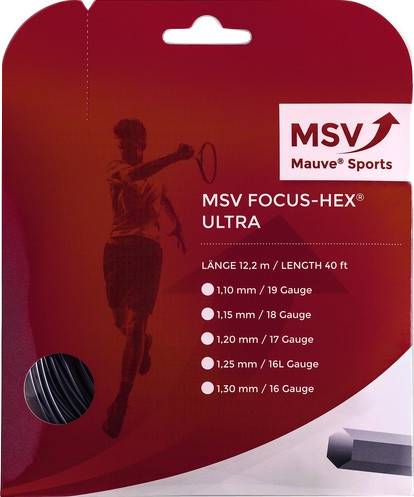 Tennis String MSV Focus Hex Ultra (12 m) - black