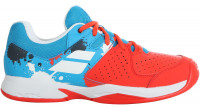 Juniorskie buty tenisowe Babolat Pulsion Clay Junior - tomato red/blue aster