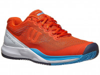 Męskie buty tenisowe Wilson Rush Pro 3.0 - tangerine/white/bonnie blue
