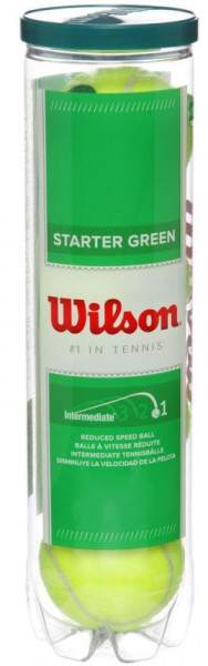 Teniske loptice za juniore Wilson Starter Play Green 4B
