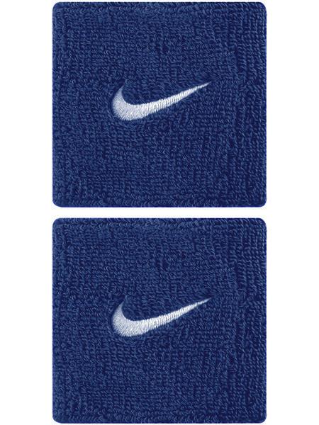 Frotki Tenisowe na nadgarstki Nike Swoosh Wristbands - royal blue/white
