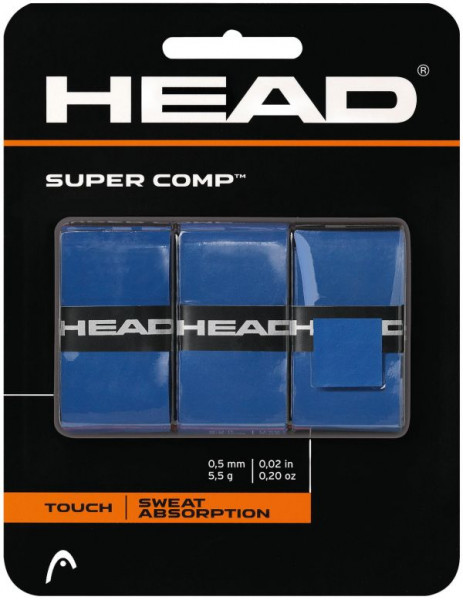 Owijki tenisowe Head Super Comp blue 3P