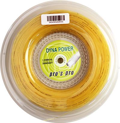 Naciąg tenisowy Pro's Pro Dyna Power (200 m) - amber