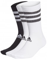 Skarpety tenisowe Adidas Glam 3 Stripes Cushioned Crew Sport Socks 3PP - white/black/white