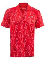 Męskie polo tenisowe Lacoste  Men's SPORT French Open Ultra Lightweight Stretch Polo Shirt - red/white