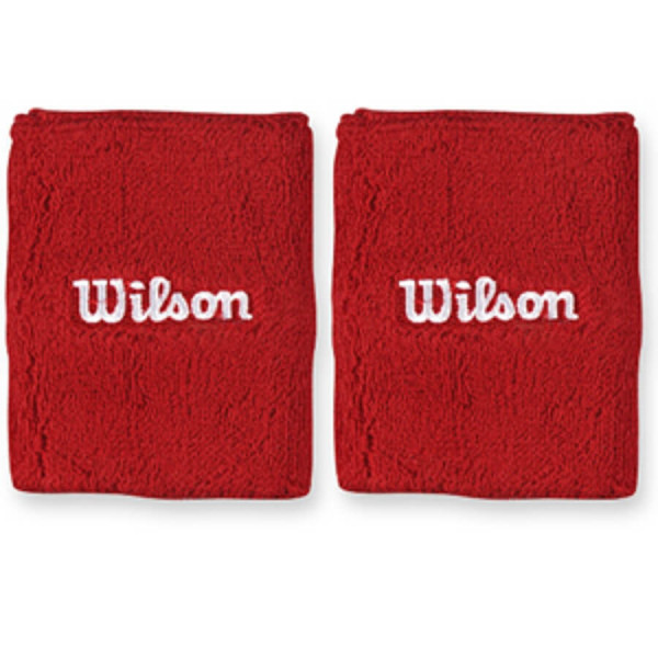 Frotka tenisowa Wilson Double Wristband - red/white