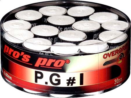 Owijki tenisowe Pro's Pro P.G. 1 (30 szt.) - white
