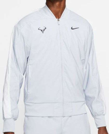 Męska kurtka tenisowa Nike Court Rafa Jacket sky greygridiron