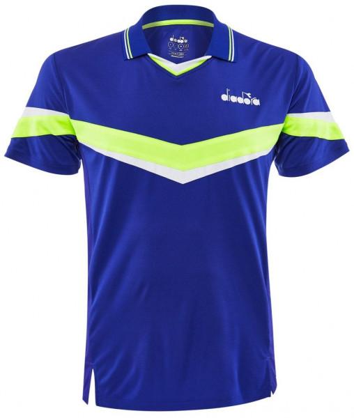 Tenisa polo krekls vīriešiem Diadora Polo SS - blue regista