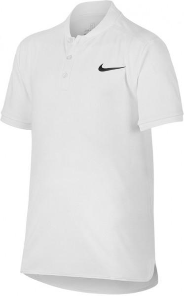 T-krekls zēniem Nike Court Advantage Tennis Polo - white/black