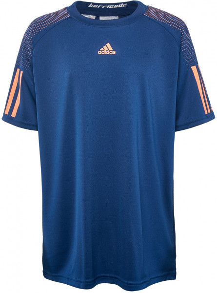 T-shirt Adidas Barricade Tee - mystery blue/glow orange