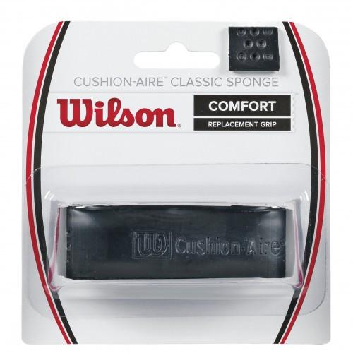 Owijki tenisowe bazowe Wilson Cushion Aire Classic Sponge black 1P