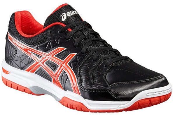 Squash shoes Asics Gel-Squad - black/vermilion/white
