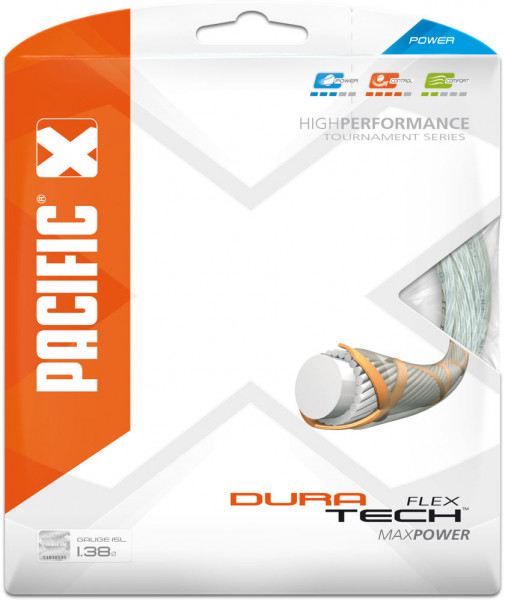 Tennisekeeled Pacific Dura Tech Flex (12,2 m) - white