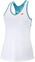 Koszulka dziewczęca Babolat Play Tank Top Girl - white/caneel bay