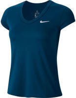 Nike Court Dry Top SS W - valerian blue/white