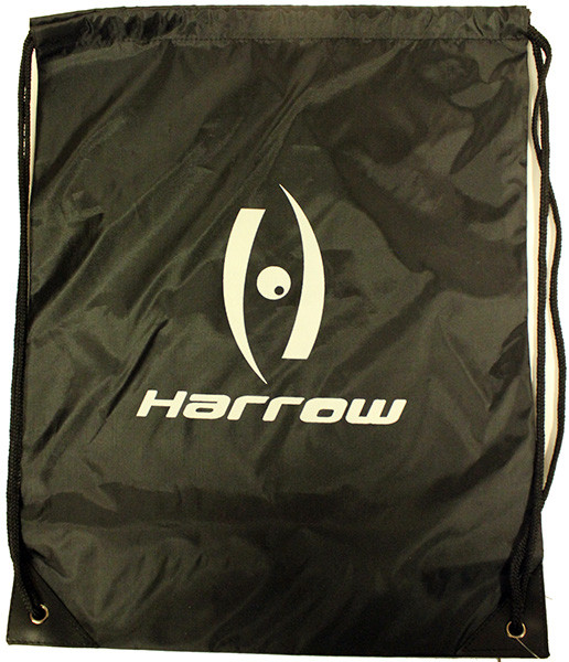 Tennis Bag Harrow Drawstring Bag - black