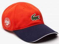 Czapka tenisowa Lacoste Roland Garros Edition Logo Cap - orange/navy