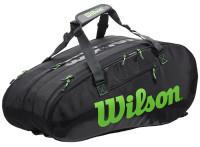 Tenis torba Wilson Super Tour 3 Comp - charcoal/green