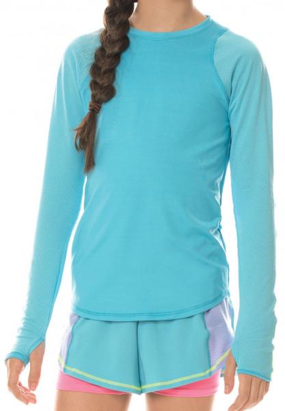 Majica kratkih rukava za djevojčice Lucky in Love Core L/S Athletic Crew G - ocean