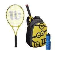 Teniso raketė jaunimui Wilson Minions Jr 25/Backpack/Bottle Kit - yellow/black/black