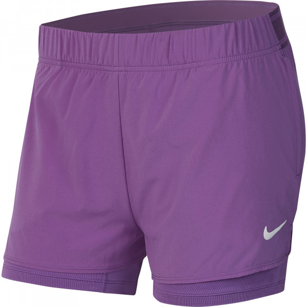 Damskie spodenki tenisowe Nike Court Flex Short - purple nebula/white