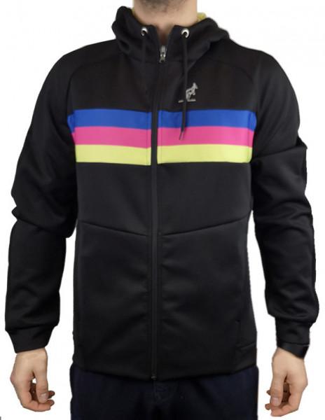 Męska bluza tenisowa Australian Volee Jacket with Printed Insert - nero