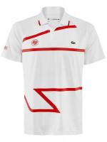 Męskie polo tenisowe Lacoste Men's SPORT Roland Garros x Novak Djokovic Polo Shirt - white/red