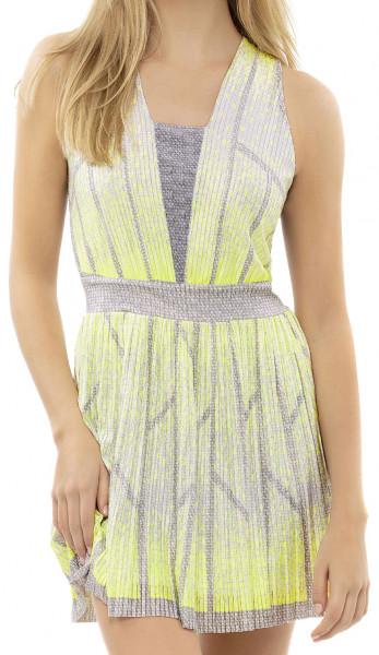 Damska sukienka tenisowa Lucky in Love Nice To Pleat You Del 1 Pleat Wave Dress W - neon yellow