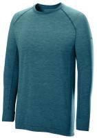 Męski T-Shirt tenisowy Wilson M F2 Seamless LS - brittany blue/corsair