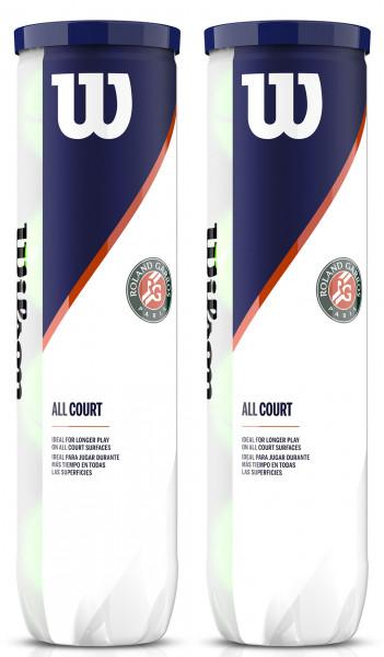 Piłki tenisowe Wilson Roland Garros All Court - 4 szt. x 2 puszki