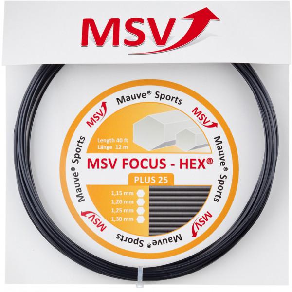 Tenisa stīgas MSV Focus Hex Plus 25 (12 m) - black