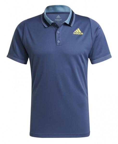 Muški teniski polo Adidas Freelift Primeblue Heat Ready Polo Shirt M - crew blue/acid yellow