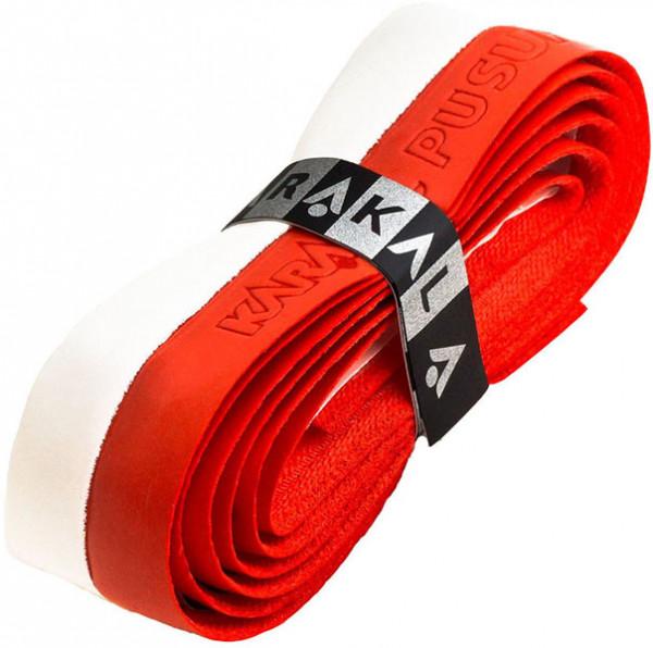 Pagrindinės koto apvijos skvošui Karakal PU Super Grip Duo (1 szt.) - red/white