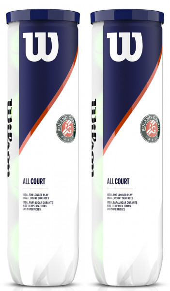 Teniso kamuoliukai Wilson Roland Garros All Court - 4 vnt. x 2 tūbelės