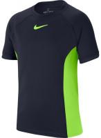 Koszulka chłopięca Nike Court Dry Top SS B - obsidian/ghost green/ghost green