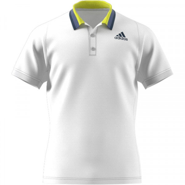 Muški teniski polo Adidas Freelift Primeblue Heat Ready Polo Shirt M - white/crew navy