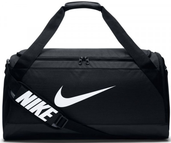 Tennis Bag Nike Brasilia Medium Duffel - black/black/white