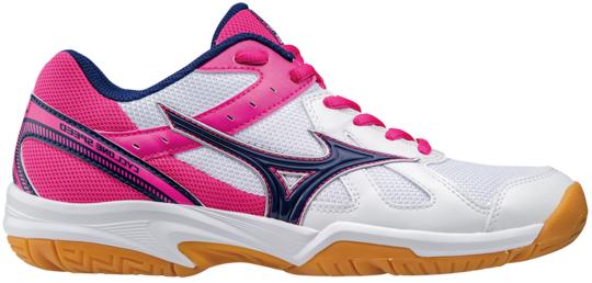 Ženske cipele za squash Mizuno Cyclone Speed - white/blueprint/pink glo